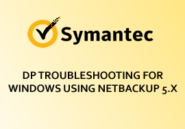 DP TROUBLESHOOTING FOR WINDOWS USING NETBACKUP 5.X